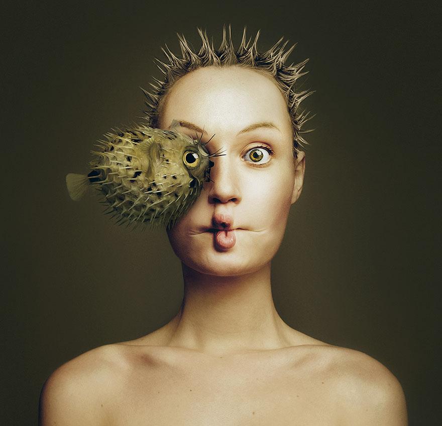 Pessoas e animais tornam-se um só neste projeto artístico de encher os olhos