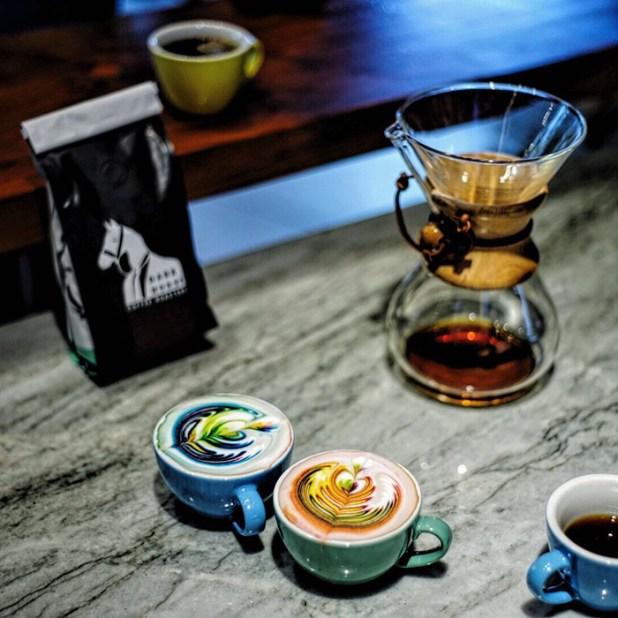 拿鐵咖啡藝術,食品染料梅森 - 索爾茲伯里-7