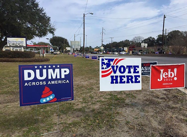 Funny Voting Signs