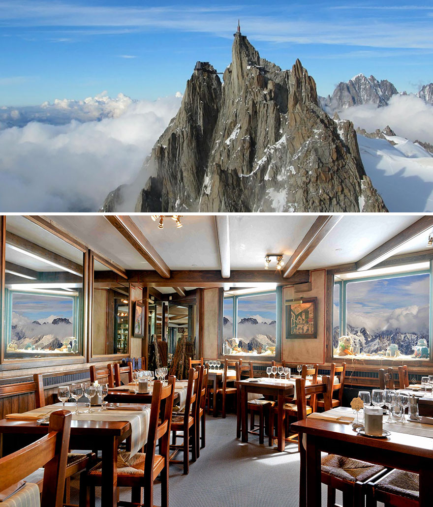 Dine Surrounded By Stunning Mountain Setting, Aiguille Du Midi Restaurant 3842m, Chamonix, France