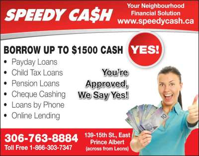 Speedy Cash Payday Advances - Opening Hours - 139 15th St E, Prince Albert, SK