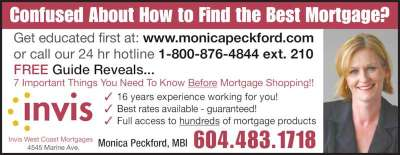 Invis West Coast Mortgages - Opening Hours - 4545 Marine Ave, Powell River, BC
