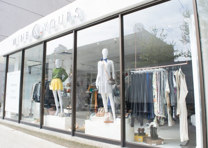 Upscale consignment boutique Mine & Yours is located at 1025 Howe Street in downtown Vancouver.