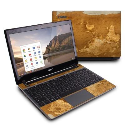 Acer Chromebook C7 Skin - Upside Down Map by Vlad Studio   DecalGirl