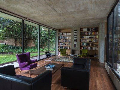 guillermo fisher adds patio to bogotá's cantilevered house
