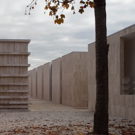Concrete necropolis by Andrea Dragoni contains public plazas and site-specific artworks