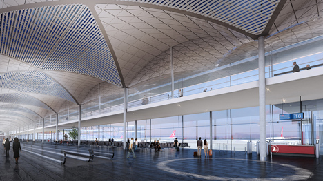 Istanbul Airport by Grimshaw, Nordic and Haptic
