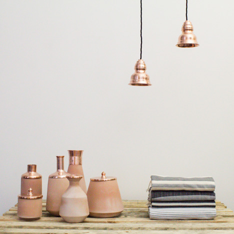 Tunisia Made lighting and vessels by Hend Krichen