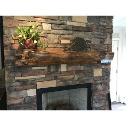 Small Crop Of Reclaimed Wood Mantel