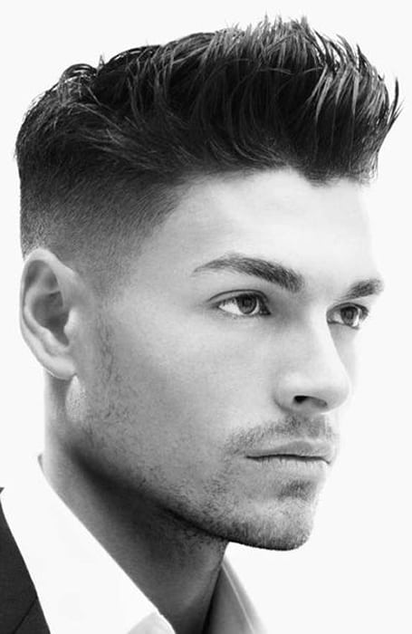 Men's Classic Fade With High Fringe