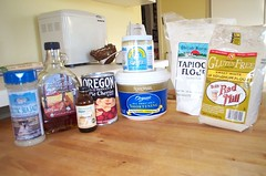 GFCF Cherry Pie ingredients
