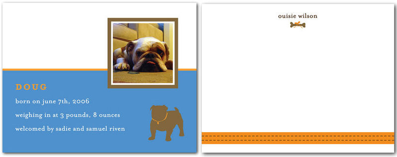 Doggy Announcements via Tiny Prints