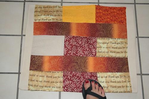 Fall scrap mat