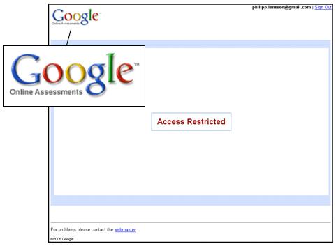 Google Online Assessment Screenshot