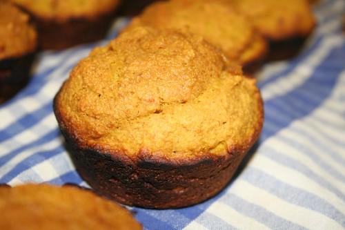 Pumpkin muffins, burned edges
