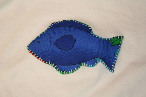 embroidered fishy