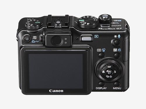 Canon Powershot G7 rear view