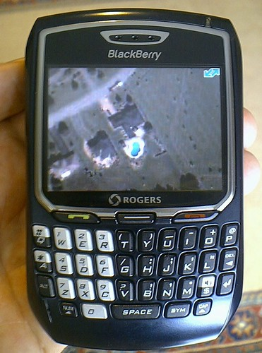 Google Local on Blackberry