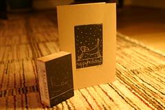 Christmas Card Woodblock