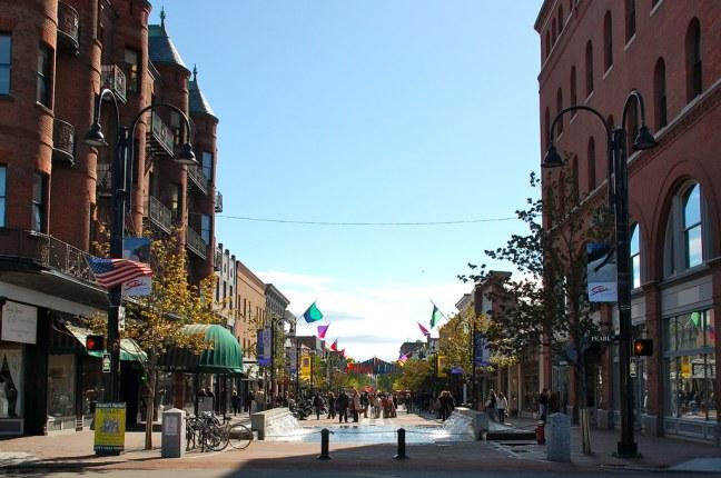 Very cool pedestrian-only street in Burlington