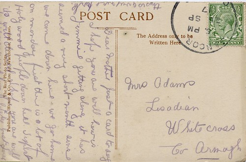Postcard from Jeannie, 26/09/1917