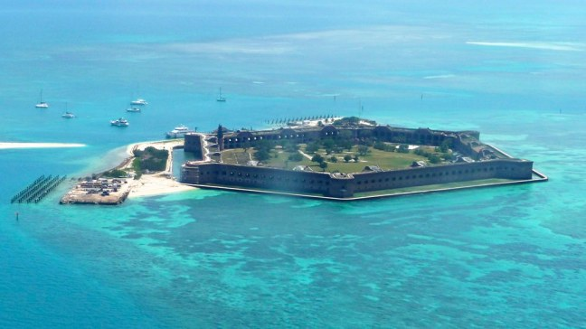 View of Dry Tortugas National Park from above