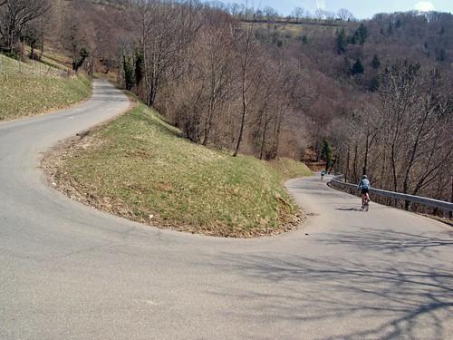 Descending from Col de la Croisette