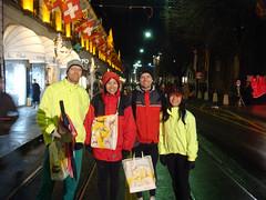 Eric, Doreen, Martin, Katy after Running Geneva Escalade