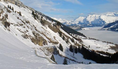 Col de la Colombière - View of north side