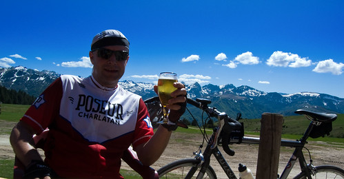 Beer at Top of Plateau de Beille