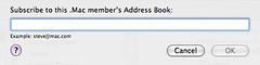 Address Book—Subscribe to .Mac Address Book