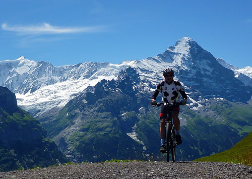 In front of the Eiger