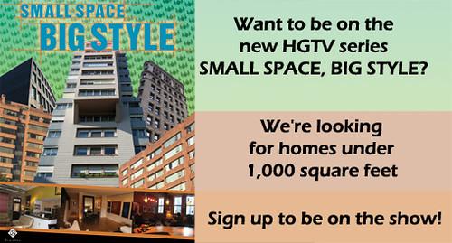 HGTV Seeking ?Small Space, Big Style? Homes