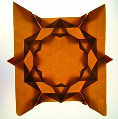 Folding a star in negative space, reverse