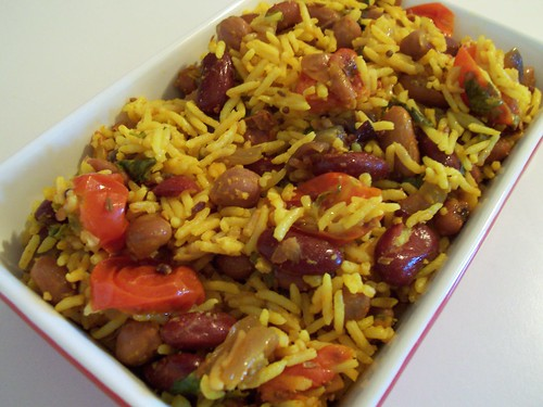 Mixed Bean Tomato Rice