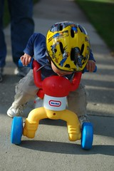 toddler on bike