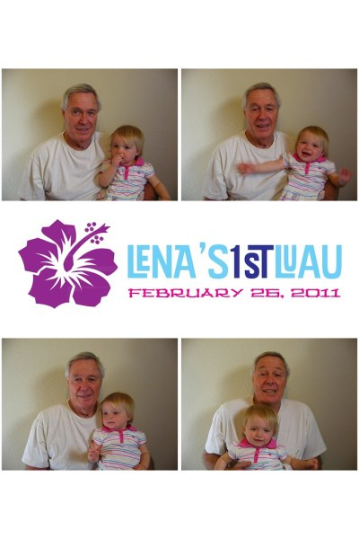 2011 - February - Lena's 1st Birthday [Photobooth]