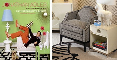 Jonathan Adler: Signed Books + Fancy Furniture!