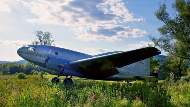 Curtis-Wright C-46 Commando outside Glenn H. Curtiss Aviation Museum