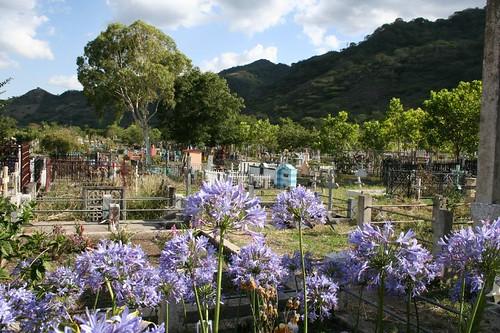 Gravetop flowers, Cemetary, Jinotega