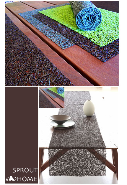Sprout Home: Spun Vinyl Placemats + Runners