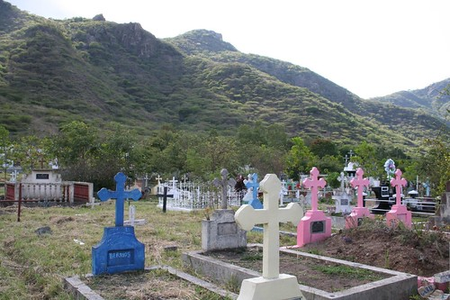 colorful crosses, Cemetary, Jinotega
