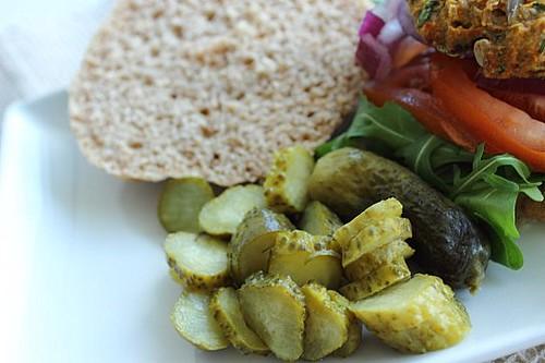 Vegan Spelt Bean and Seed Burger (14)