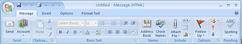 Outlook toolbar