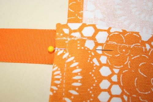 Pretty pinned fabric