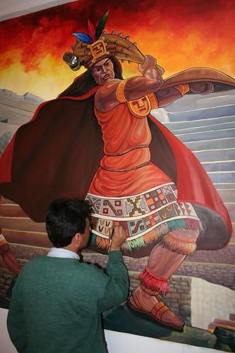 Mural in Ollantaybamba municipal building4
