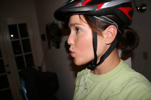 dork in her helmet