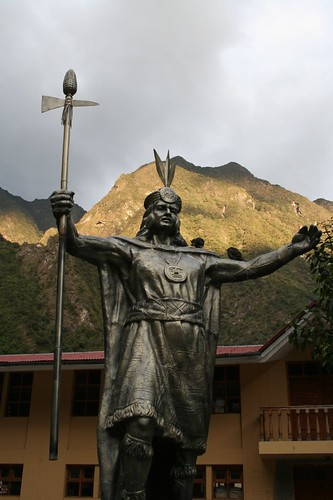 Incan warrior, Aguas Calientes
