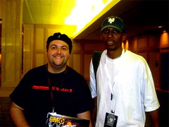 DJ B-Naut and Public Enemy producer and great guy, Hank Shocklee.