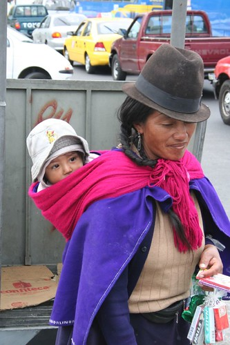 Indigenous woman, Quito